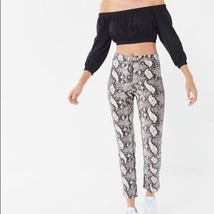 Urban Outfitters Maia Snakeskin Pants